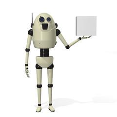 Robot holding box