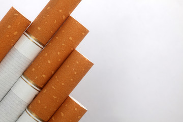 Cigarettes isolated on a white background