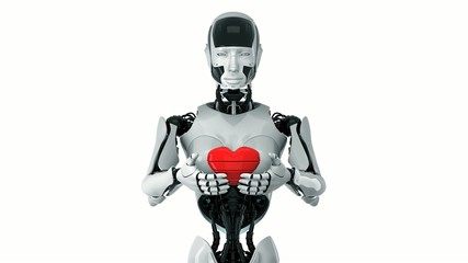 Robotic Valentine that give you red bright heart