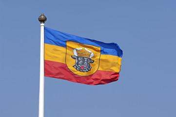 Fahne des Bundeslandes Mecklenburg-Vorpommern