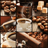 Fototapety Coffee collage