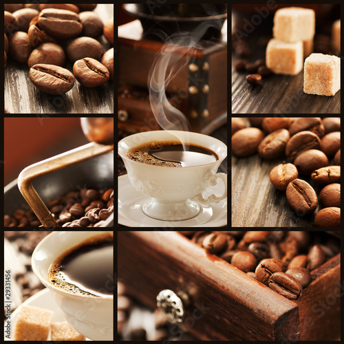 Kawa  - aromatyczny collage
