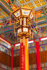 A beautyful lantern carving in chinese temple