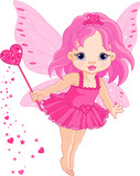 Fototapety Cute little baby Love fairy