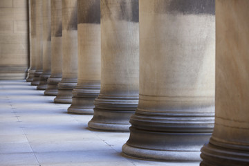 Ornate columns and bases