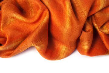 Orange cashmere closeup