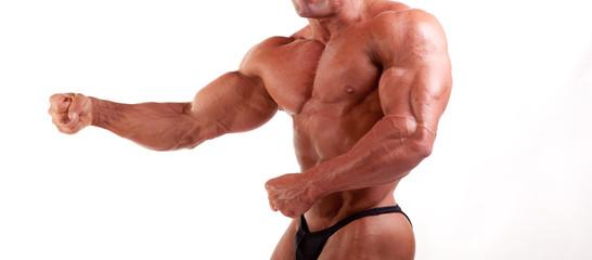 bodybuilder psoing