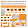 website design elements - buttons in orange colors
