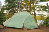 Tent at Campsite in the Wilderness poster