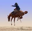 Fototapeten,rodeo,pferd,cowboy,bronco