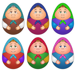 Dolls matreshka, set
