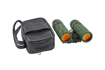 binoculars and leather case