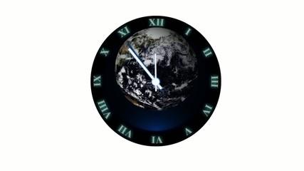 Uhr - 5 vor 12 - klimawandel - isoliert