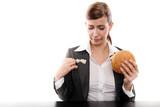 geschäftsfrau beim lunch poster