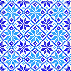 seamless embroidered good like handmade cross-stitch pattern