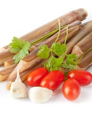 Cannelli aglio  prezzemolo e pomodorini