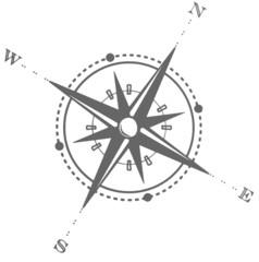 Kompass grau