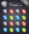 Glossy Peebles - File format icons 01
