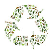 RECYCLE SIGN Collage (recycling icons ecology environment clean)
