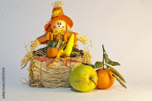 Vegetable toy with fruits