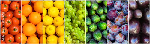 Poster fruit rainbow