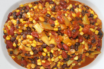 Vegetarian Chili Casserole