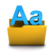 3d Folder with fonts