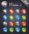 Glossy Pebbles - Social media icons 01