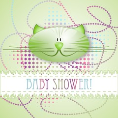 """""""Baby shower!"""" greeting card"""