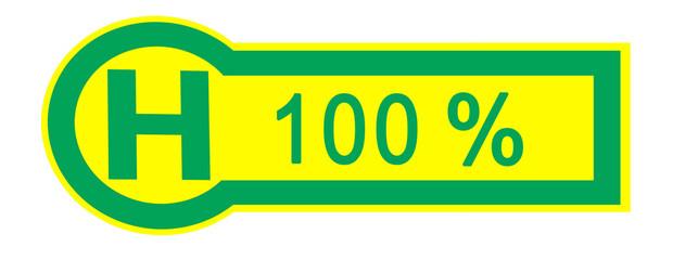 bus stop 100 percent sign