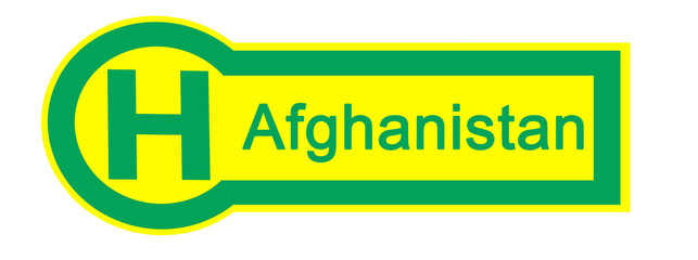 bus stop afghanistan sign