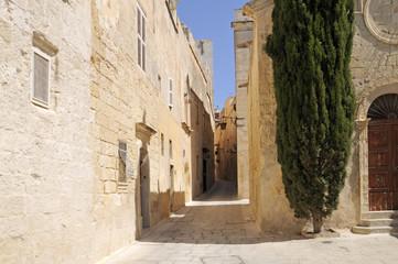 Narrow Street in Mdina, Malta