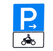 parking for bikes sign