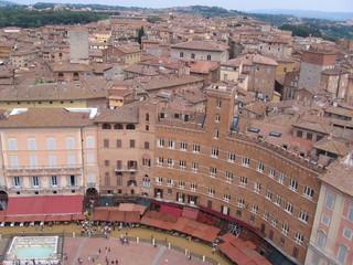 Panorama di Piazza del Campo, Siena