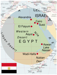Egypt map africa world business success background