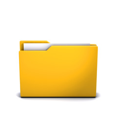 3d Folder closed, containing documents