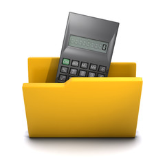 3d Folder containing calculator