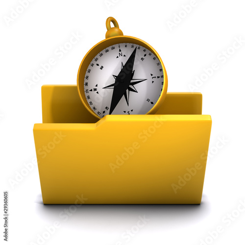3d Folder containing compass