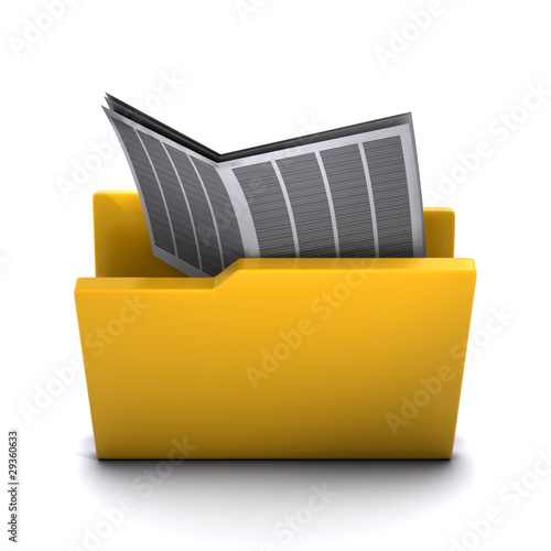 3d Folder containing newspaper