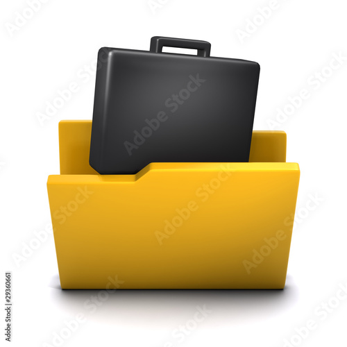 3d Folder containing briefcase