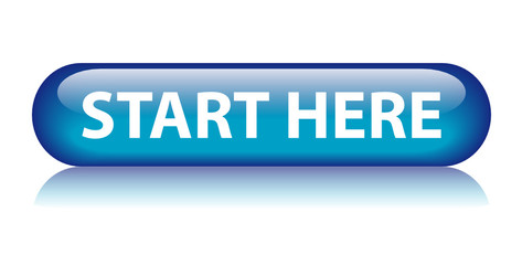 """START HERE"" Web Button (internet home homepage website welcome)"