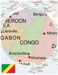 Congo map africa world business success background