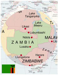 Zambia map africa world business success background