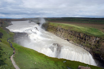 Gulfoss, an icelandic waterfall