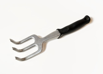 Small Garden Fork on white background