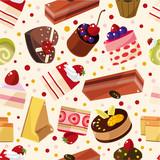 Fototapety seamless cake pattern