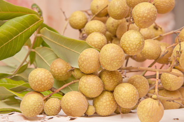 bunch of longan.