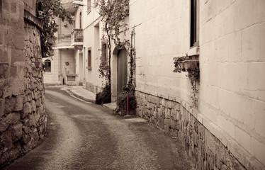 Retro photo of   mediterranean town
