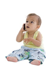 little boy on the phone