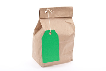 Lunch bag with green tag price